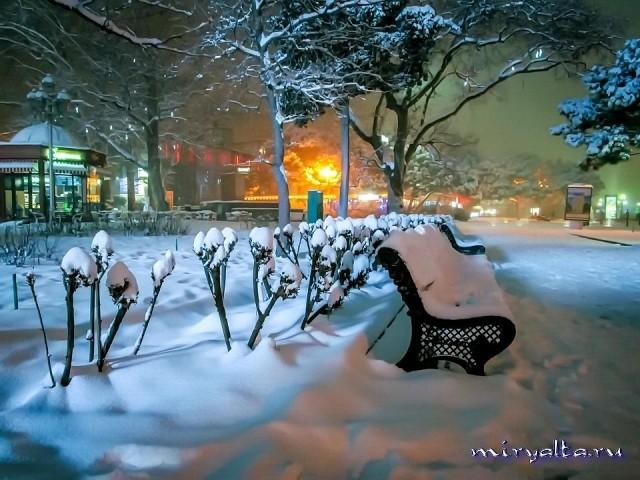 Ялта зимой